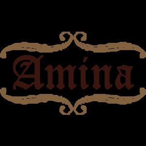 Amina 300x300 صور ِاسم امينة مزخرف انجليزى , معنى اسم امينة و شعر و غلاف و رمزيات