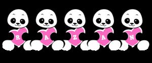 Razan designstyle love panda m 300x125 بالصور اسم رزان عربي و انجليزي مزخرف , معنى اسم رزان وشعر وغلاف ورمزيات