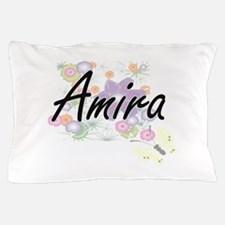 amira artistic name design with flower pillow case صور ِاسم اميرة مزخرف انجليزى , معنى اسم اميرة و شعر و غلاف و رمزيات