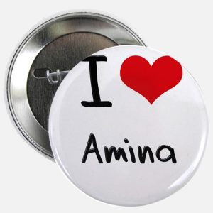 i love amina 225 button 300x300 صور ِاسم امينة مزخرف انجليزى , معنى اسم امينة و شعر و غلاف و رمزيات