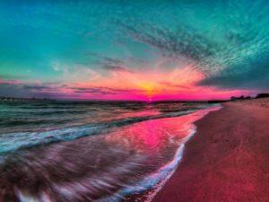 مناظر غروب الشمس علي البحار 1 450x338 300x225 صور لغروب الشمس على الشواطئ والمياه والبحار