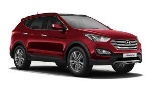 Hyundai-Santa-Fe-Right-Front-Three-Quarter-88687-300x170 صور عربيات هيونداي, صور السيارة هيونداي سنتافي, Hyundai Santafe photo