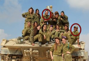Israeli-female-soldiers-troops-member-women-girl-hoties-hot-cool-sexy-leisure-gun-their-hands-Female-tank-instructors-School-of-Infantry-Professions-conducted-a-drill-Nagmachon-tanks-armed-hummers-10-300x207 صور بنات بالزي العسكري, بنات مقاتلات, اجمل الفتيات في الزي العسكري