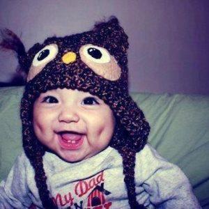 b078d56c6d0dcc84c863a14ff759eada-owl-hat-dimples-300x300 صور أجمل غمازات وخدود بنات روعة, خد وغمز اطفال جميلة جدا جديدة