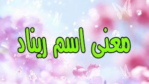 mqdefault 1 300x169 بالصور اسم ريناد عربي و انجليزي مزخرف , معنى اسم ريناد