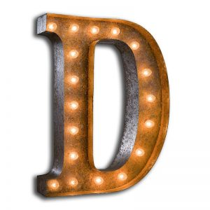 rusty-24-letter-d-marquee-light-7-300x300 صور حروف انجليزية رومانسية روعة, صور حروف انجليزية متحركة مزخرفة