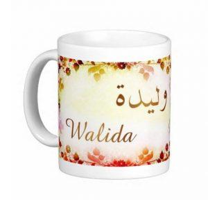 mug tasse prenom arabe feminin walida g 300x288 صور اسم وليدة مزخرف انجليزى , معنى اسم وليدة و شعر و غلاف و رمزيات