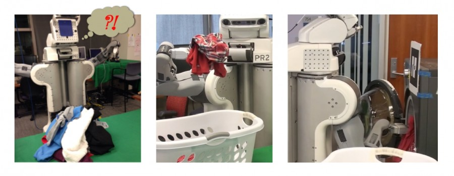 Autonomous robot doing laundry 900x350 رجل آلي يغسل الملابس و يطويها