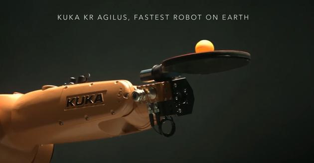 KUKA robot أغرب الإبتكارات روبرت للعب التنس