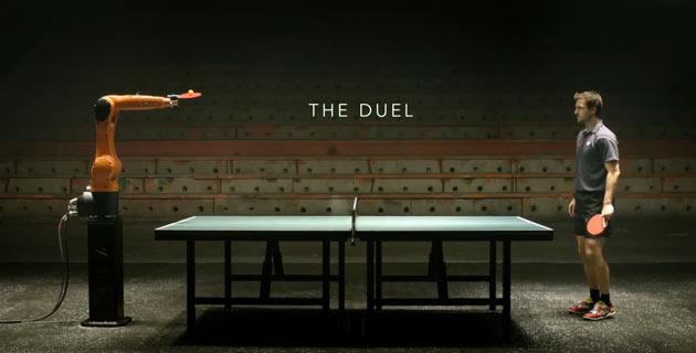 Timo Boll vs. KUKA robot Teaser feeldesain أغرب الإبتكارات روبرت للعب التنس