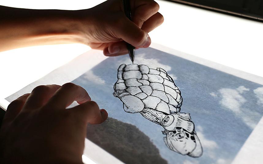 cloud artist أغرب اللوحات الرسم على السحاب